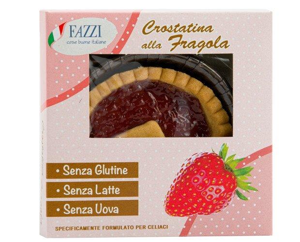 Crostatina FRAGOLA. SENZA GLUTINE SENZA LATTE SENZA UOVA