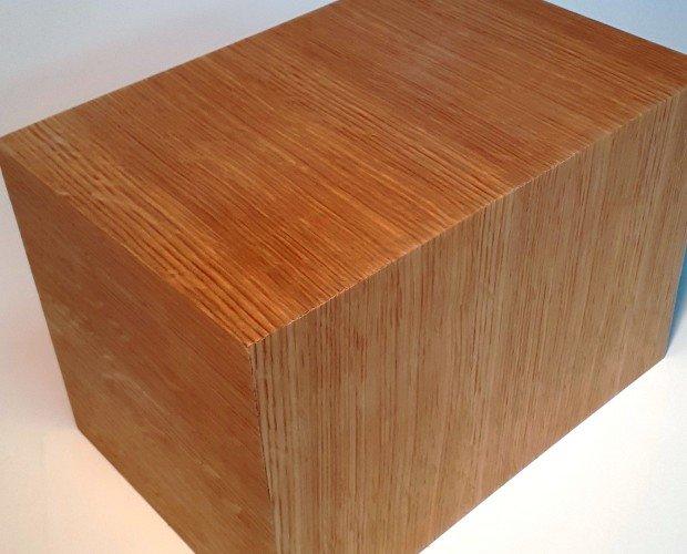 20200420_162543. urna cineraria in mdf placcata legno di rovere