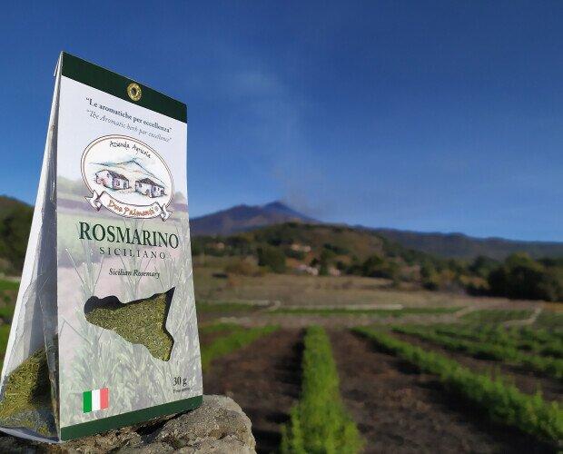 Rosmarino siciliano. Coltivato secondo una forma di agricoltura sostenibile a basso impatto ambientale