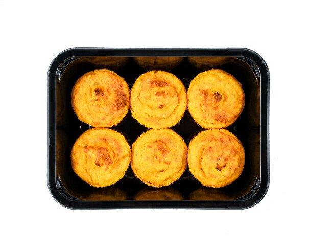 Flan zucca e carote. Linea aperitivi, buono e pratici . Pronti in soli 2 minuti