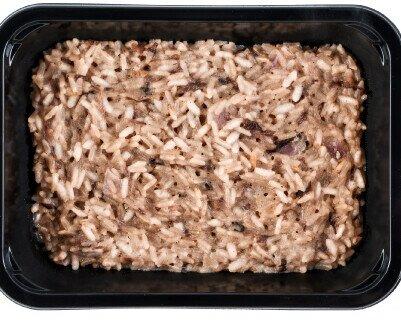 Risotto radicchio e gorgonzola. Linea primi piatti Risotto radicchio e gorgonzola 300gr