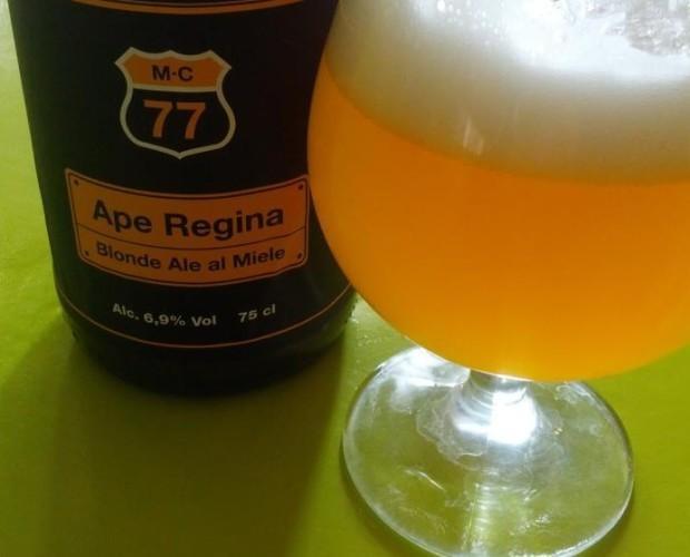 Ape Regina. La blonde ale al miele.