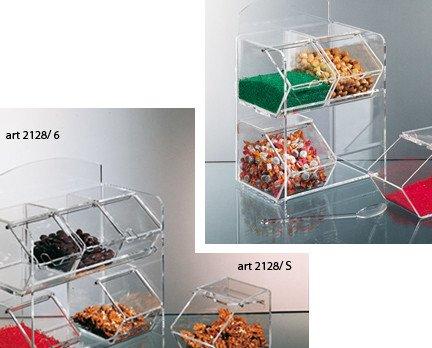 Ape. contenitori in plexiglass