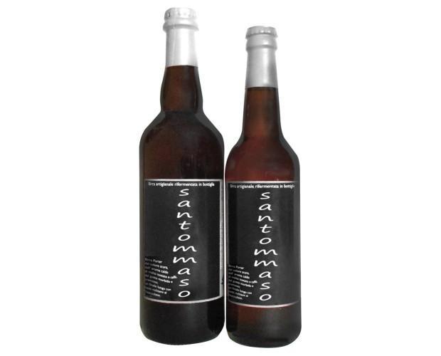 SanTommaso. Birra scura prodotta artigianalmente.