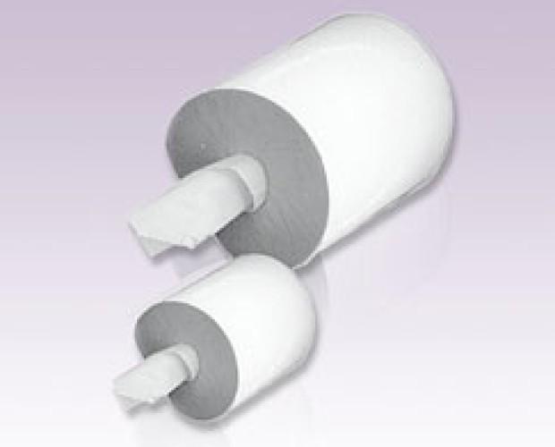 Rotolo spirale doppio velo. Pura cellulosa, 6 rotoli