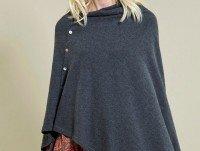 Poncho lana cotone