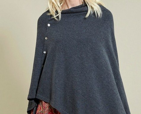 Poncho lana cotone. Poncho sei modi da indossare lana cotone.