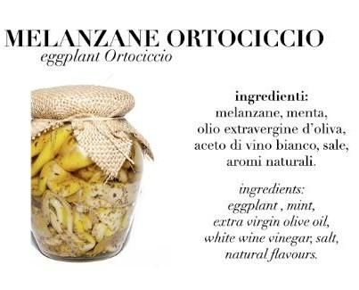 Melanzane Ortociccio. Prodotto con aromi naturali