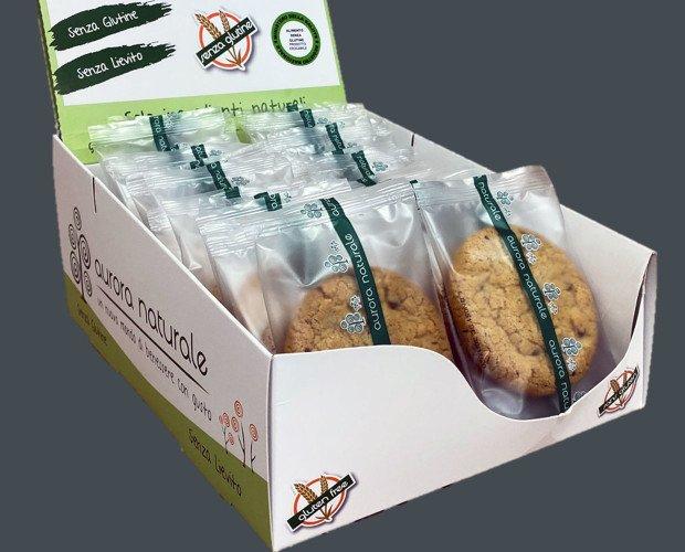 Espositore-Cookies_lato-1. Espositore cookie senza glutine da 20 pezzi.