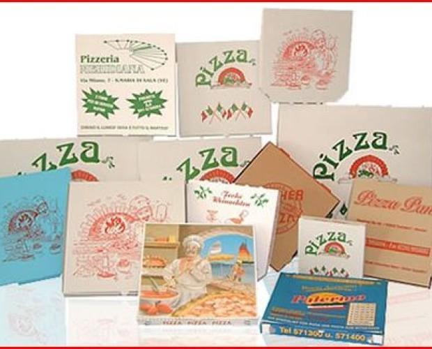Imballaggi su Misura.Pizza Box con carte alimentari