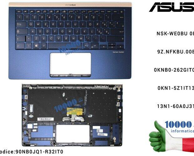 Tastiere.Tastiera Italiana Retroilluminata Completa di Top Case Superiore ASUS ZenBook UX433