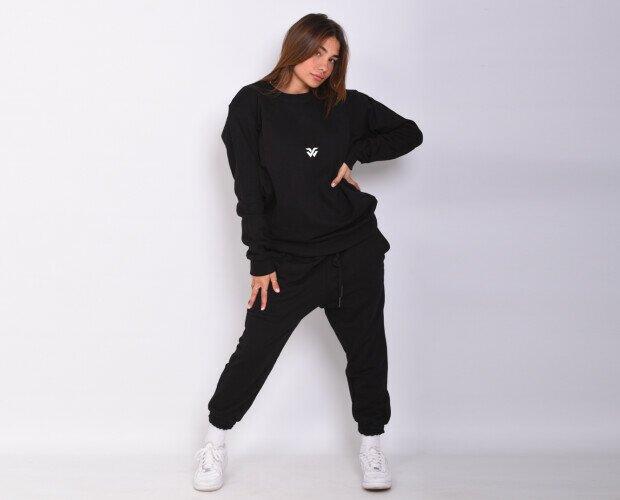 Tuta black 100% cotone. Tuta 100% cotone jersey , pettinato a filo lungo .Made In Italy