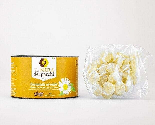 Caramelle al Miele. Con miele dall'Oasi Naturalistica WWF del Lago di Alviano. Caramellificio Leone