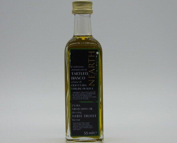 Olio Extravergine al tartufo bianco. Olio extravergine di oliva al tartufo bianco, disponibile in più formati.