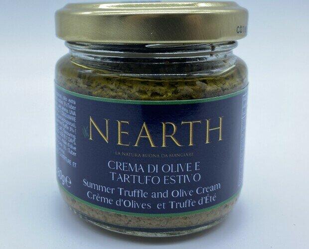 Crema di Olive e Tartufo. Perfetta per gli aperitivi, profumo e gusto delicatamente gradevoli.