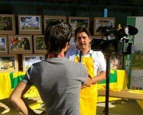 EXPO MILANO. Intervista della Rai sulla nostra Birra Agricola a km zero. Padiglione Coldiretti