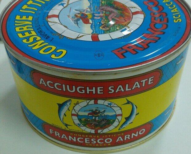 Conserve di Pesce.Acciughe Salate Kg. 5 in Latta