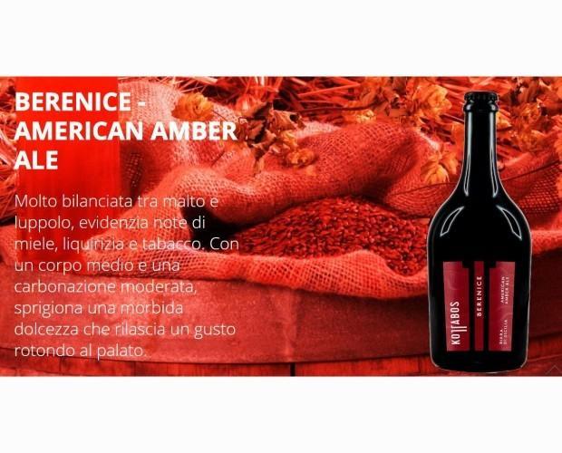 Berenice. Birra artigianale in stile American Amber Ale