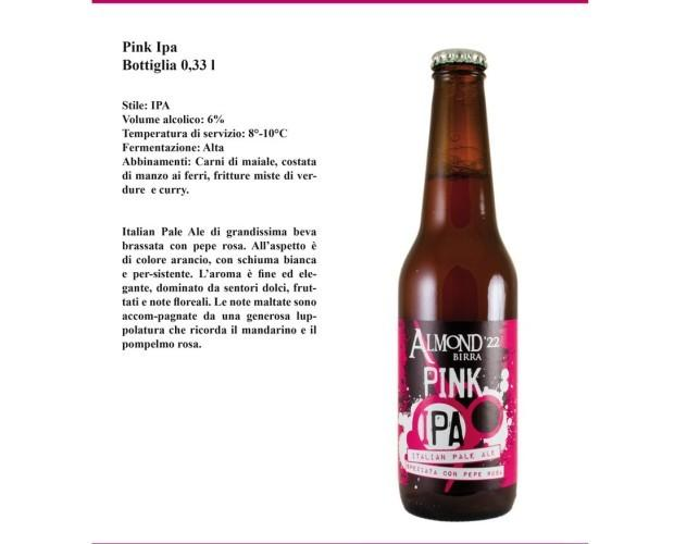 Pink Ipa. Birra Artigianale brassata al pepe rosa.