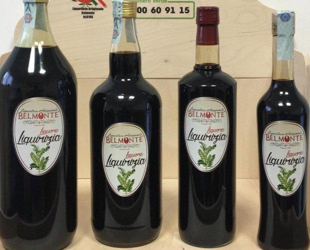Liquirizia lt.2 lt.1,50 lt.1 lt.0,50. Liquore prodotto da infusione di radici di liquirizia