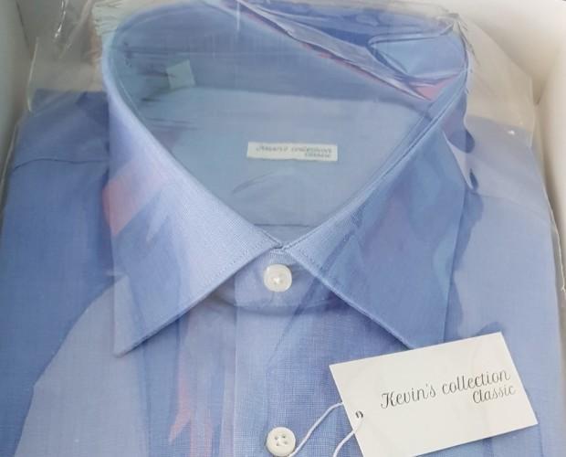 Camicia da Uomo. Tinta unita 100% cotone