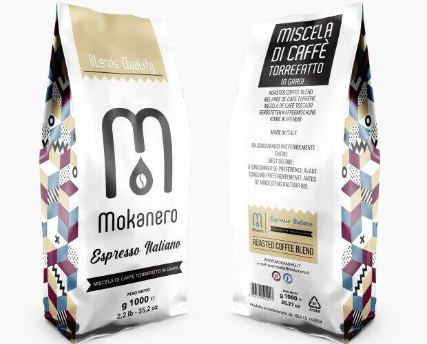 Caffè in grani. Caffè torrefatto in grani - busta 1kg