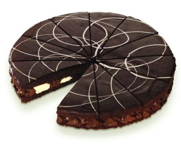 Day & night chocolate pie. Torta americana al cioccolato  crema