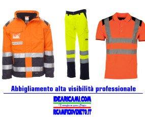 Alta Visibilità. Abbigliamento alta visibilità professionale personalizzabile con ricami e/o stampe