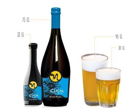 Birra Artigianale.Clelia, giallo pallido, speziata