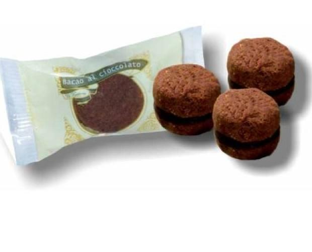 Biscotti.Baci di dama al cacao