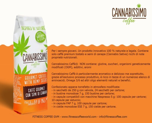 Depliant IT. Cannabisssimo caffè