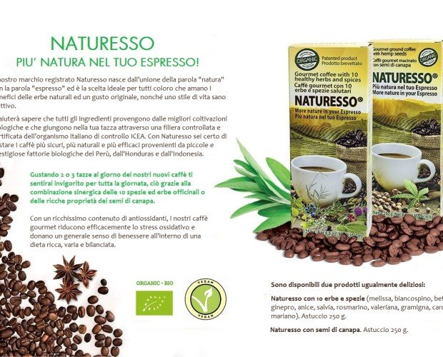 NATURESSO IT. Linea caffè BIO