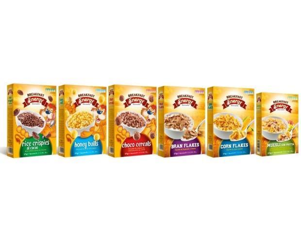 Derivati dei Cereali. Cereali per la Colazione. Produzione a marchio proprio.