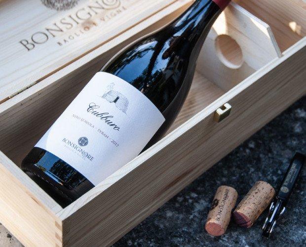Cubburo-nella-cassetta. vino CUBBURO - Nero d'Avola e Syrah in cassetta di legno