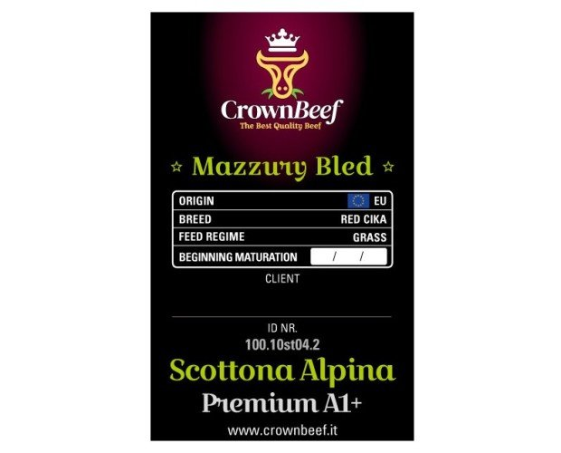 CROWN BEEF. Scottona Alpina Mazzury Bled
