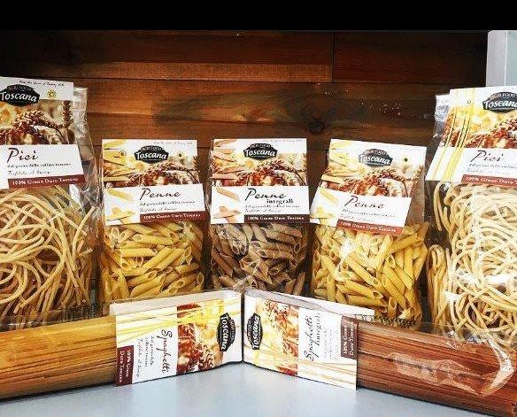 Pasta di Agrifood. Pasta 100% grano duro Toscano lenta essiccaz. traf. al bronzo, Trad. BIO e Integrale