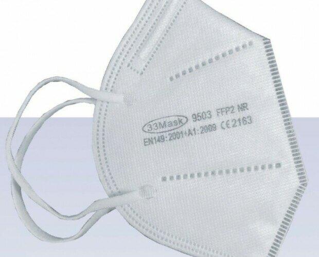 Mascherina FFP2. Mascherina FFP2 senza valvola, realizzata in 4 strati di materiale filtrante