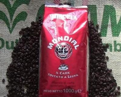 Caffè in Grani.Miscela in grani Caffè Mondial