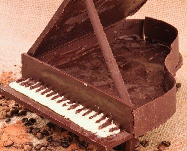 cioccolatini artigianali. pianoforte di Cioccolato