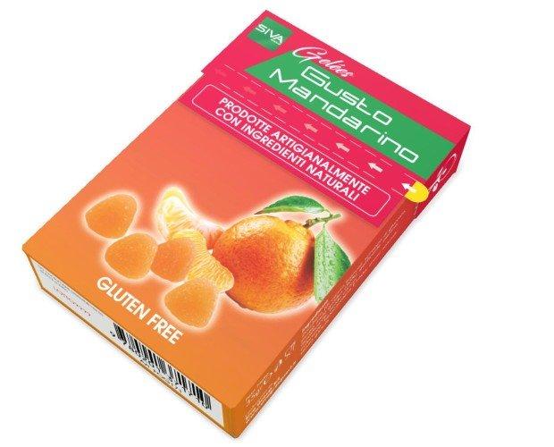 Astuccio con Strap 35 gr Gelees Food Man. Caramella Gelèes Gr. 35 Gusto MANDARINO