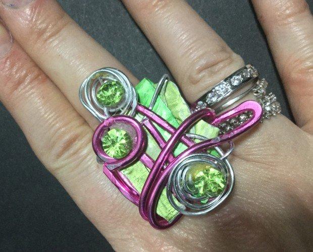 IMG_2303. Anello Bijotteria Wire con cristalli