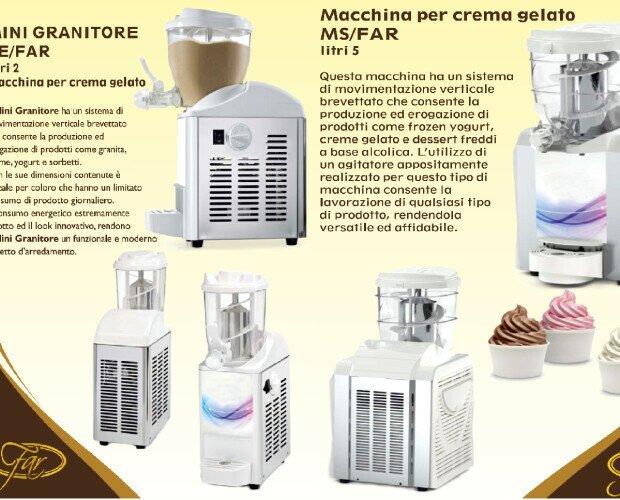 Minigranitori e macchine per gelato. .................................................................................