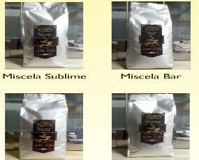 miscele caffè in grani. 1) miscela sublime 2)miscela bar 3)miscela italiana 4)miscela superiore