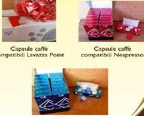 Caffè in capsule. 1)Capsule compatibili lavazza point  2)Capsule compatibili nespresso 3)Capsule dec.