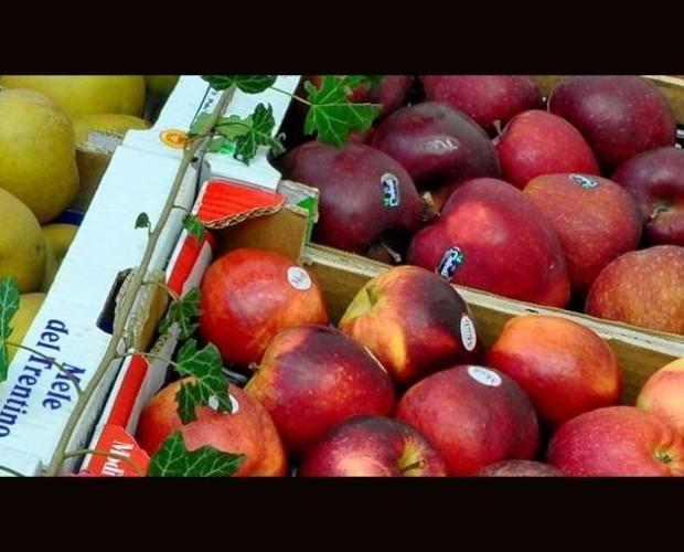 Frutta Fresca.Mele rosse e verdi
