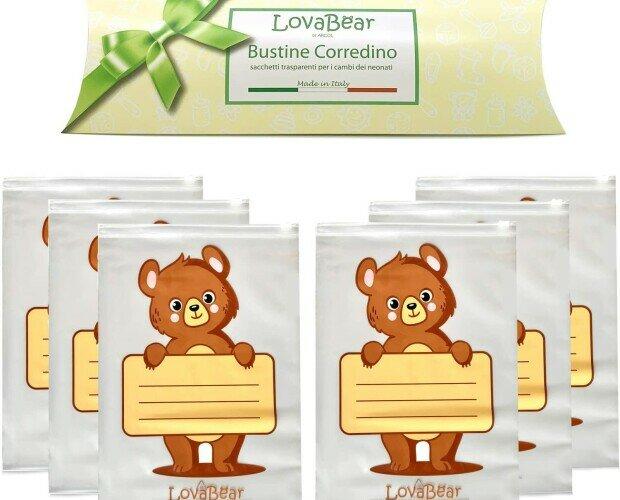 Bustine corredino. Le uniche Bustine corredino Lovabear Made in Italy, inodore e sicure.