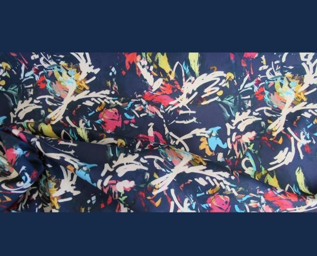 . Tessuto stampato Pollock Style