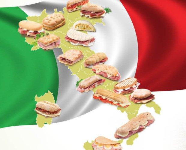 Italian_taste_1920x600. Panini tipici di ogni regione Italiana