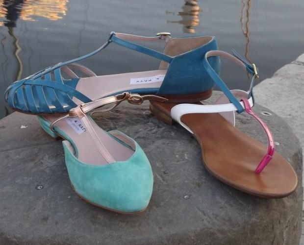 Calzature femminili. Ballerine GimerArancia