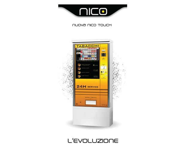 Distributore Automatico Nico. Ideale per esterni con e senza basamento